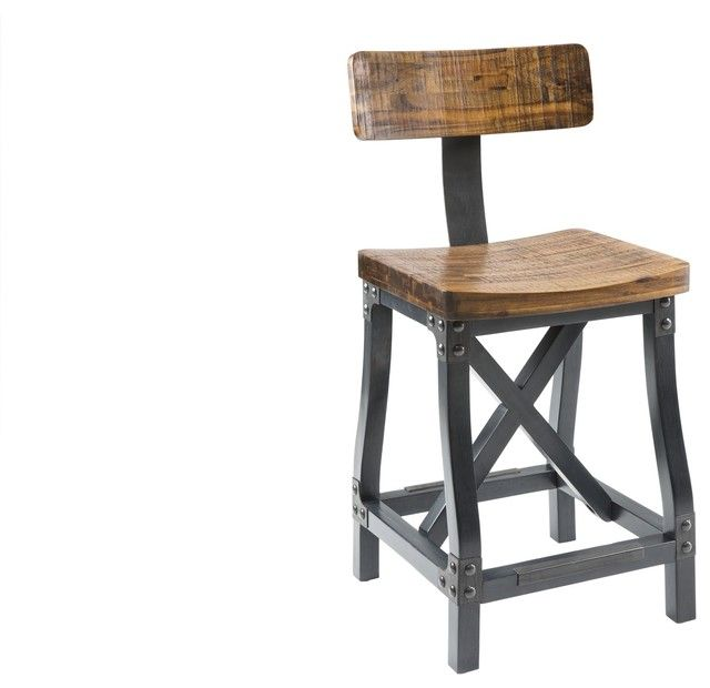 Captivating Chic Industrial Bar Stools With Back Cheyenne Rustic