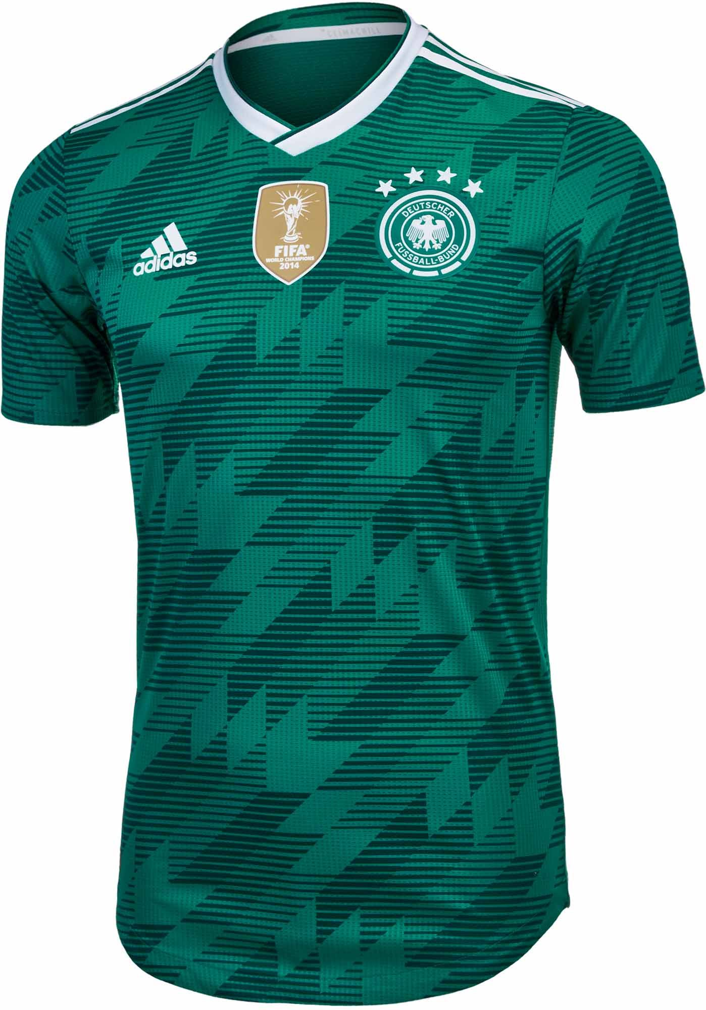 Buy the 2018 19 adidas Germany Authentic Away Jersey from www.soccerpro.com 4bff4a1cd