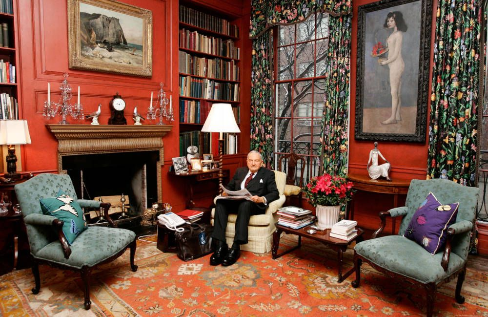 David rockefeller sr new york home interiors for Apartment mazor