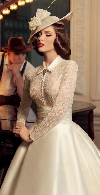 25+ bästa Vintage style wedding dresses idéerna på ...