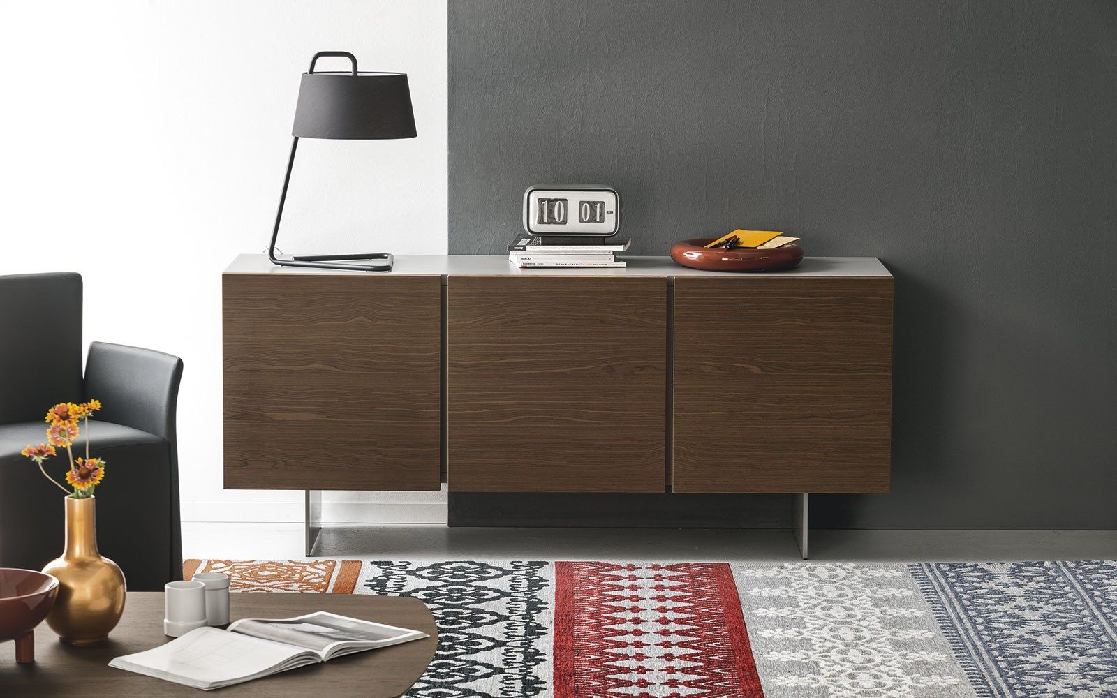 Sipario Sideboard With Doors By Calligaris Consolas Credenzas  # Calligaris Meuble Suspendu