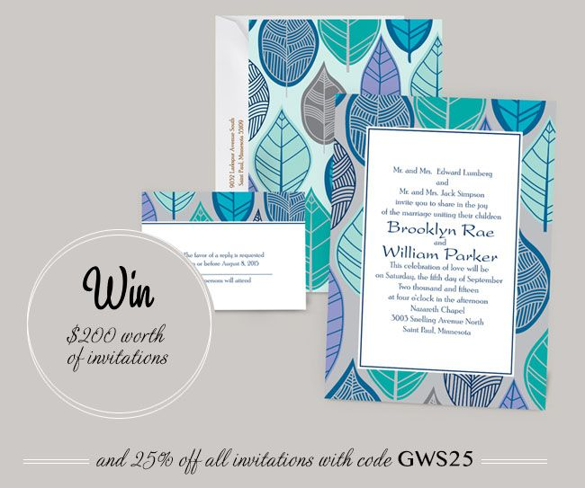 Wedding Invitation Giveaway: Under The Willows Boutique + A $200 Giveaway