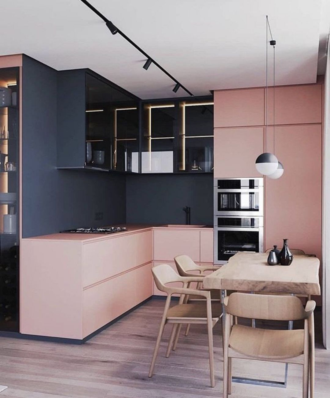 Epic romantic pink kitchen color scheme you have to know https also amazing interior design remodel if  ve the small rh pinterest