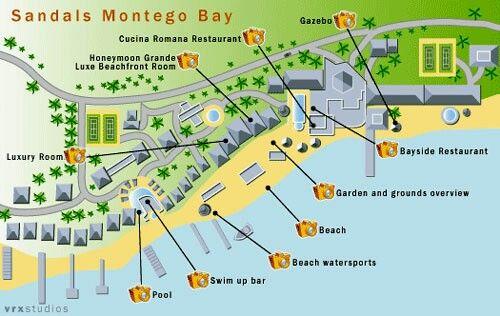 Sandals Montego Bay Resort Map wwwromanticplanetca Resort Maps