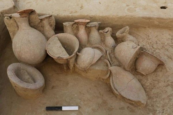 Pots discovered in Harappan house