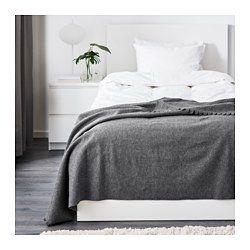 Polarvide Plaid Gris 130x170 Cm Draps De Luxe Ikea Et Linge De Lit Blanc