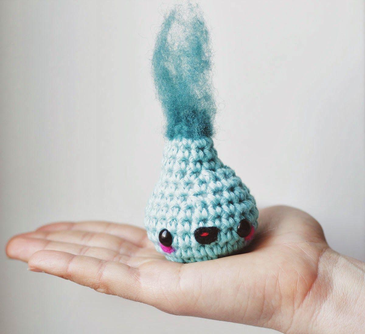 Free amigurumi water drop pattern   Pinterest   Ganchillo crochet y ...