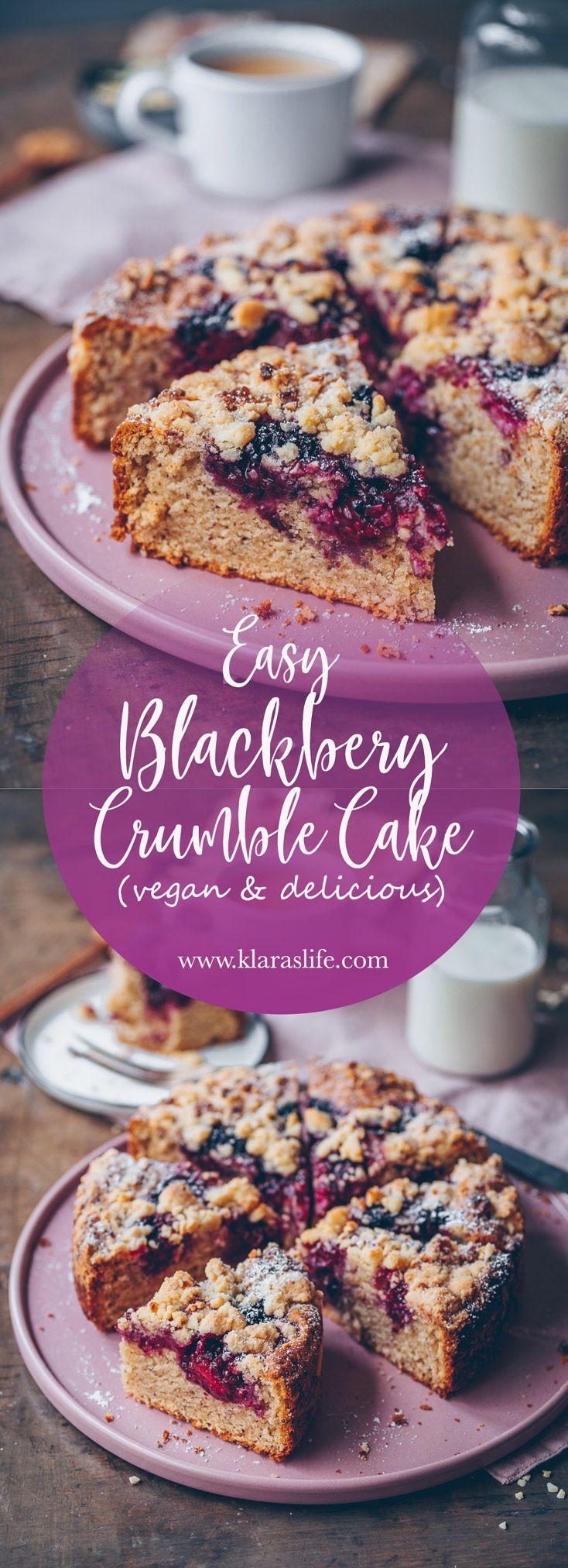 Blackberry Crumble Cake | Recipe | Vegan crumble, Crumble ...