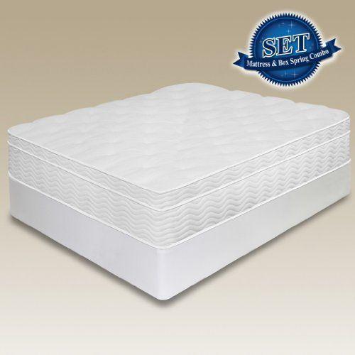 13 Sleep Master Euro Top Spring Mattress Bi Fold Box Spring Set