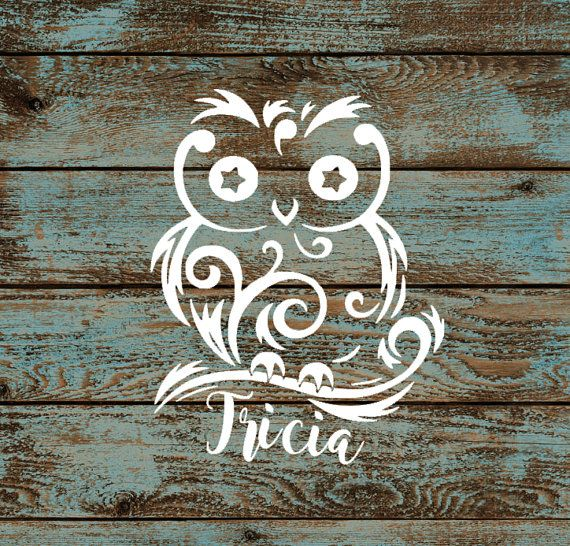 Custom Owl Decal Vinyl Sticker CarTruckWindowYeti Owl - Owl custom vinyl decals for car