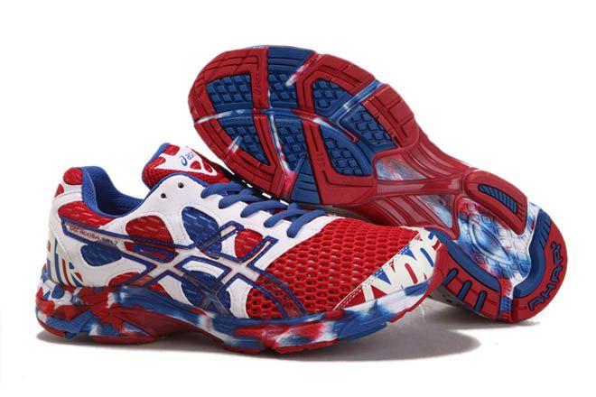 Mens Asics Gel Noosa TRI 7 Red White Blue Shoes | Asics gel