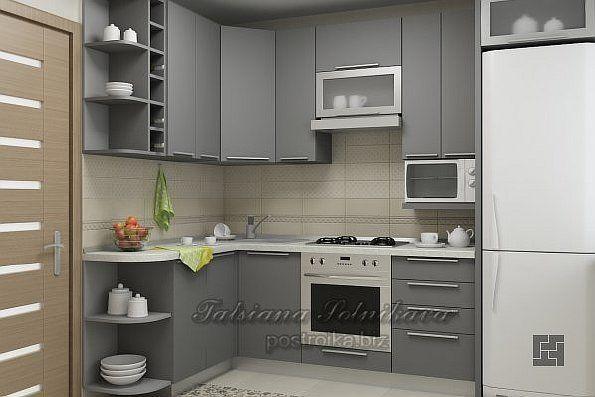 Комфортный и уютный интерьер кухни в хрущевке или Идеям