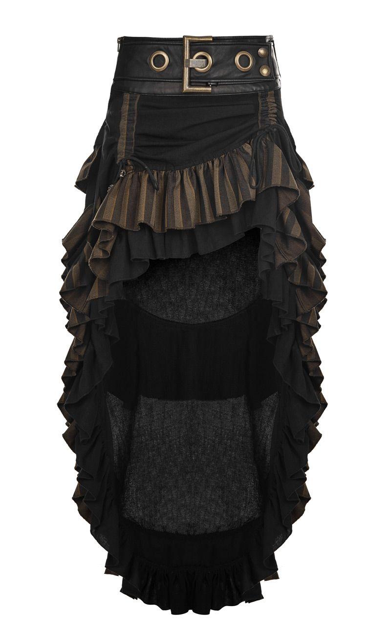 Jupe marron et noire rayee, grosse ceinture decorative, steampunk western,  Punk Rave   JAPAN ATTITUDE - PUNKR0424 Shop   www.japanattitude.fr 01c4436f6b6