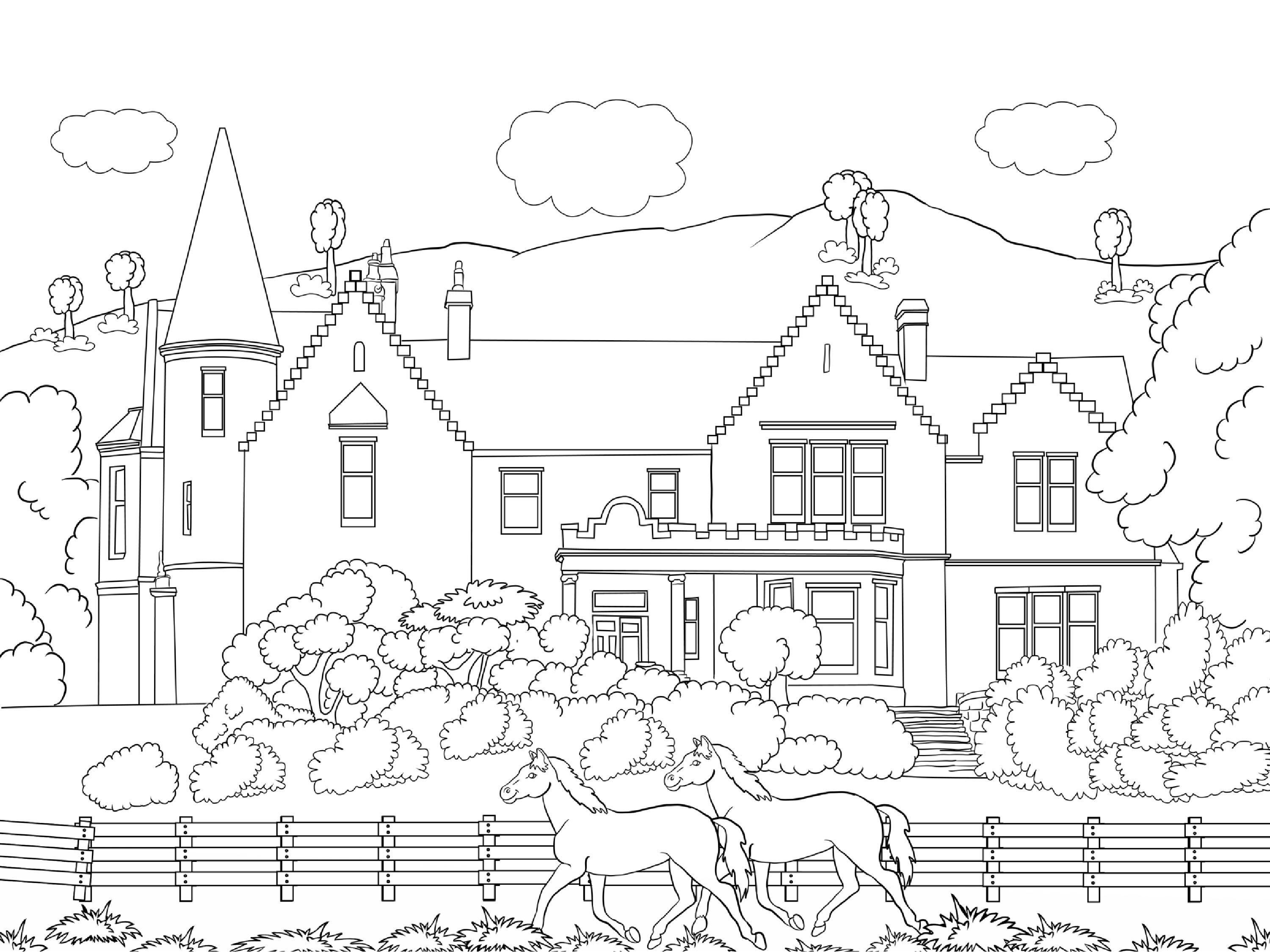 Beautiful Scenery Colouring Pages Coloring Pages Free Coloring