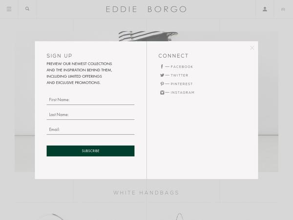 Eddie Borgo 15 Off Orders Order Promo Codes White Handbag