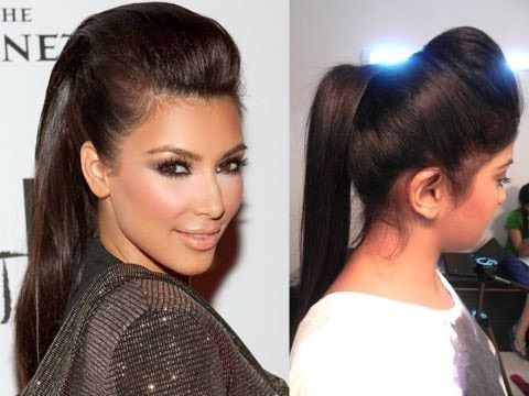 Kim Kardashian Inspired Ponytail With A Puff Hair Puff Latest Hairstyle For Girl Indian Hairstyles