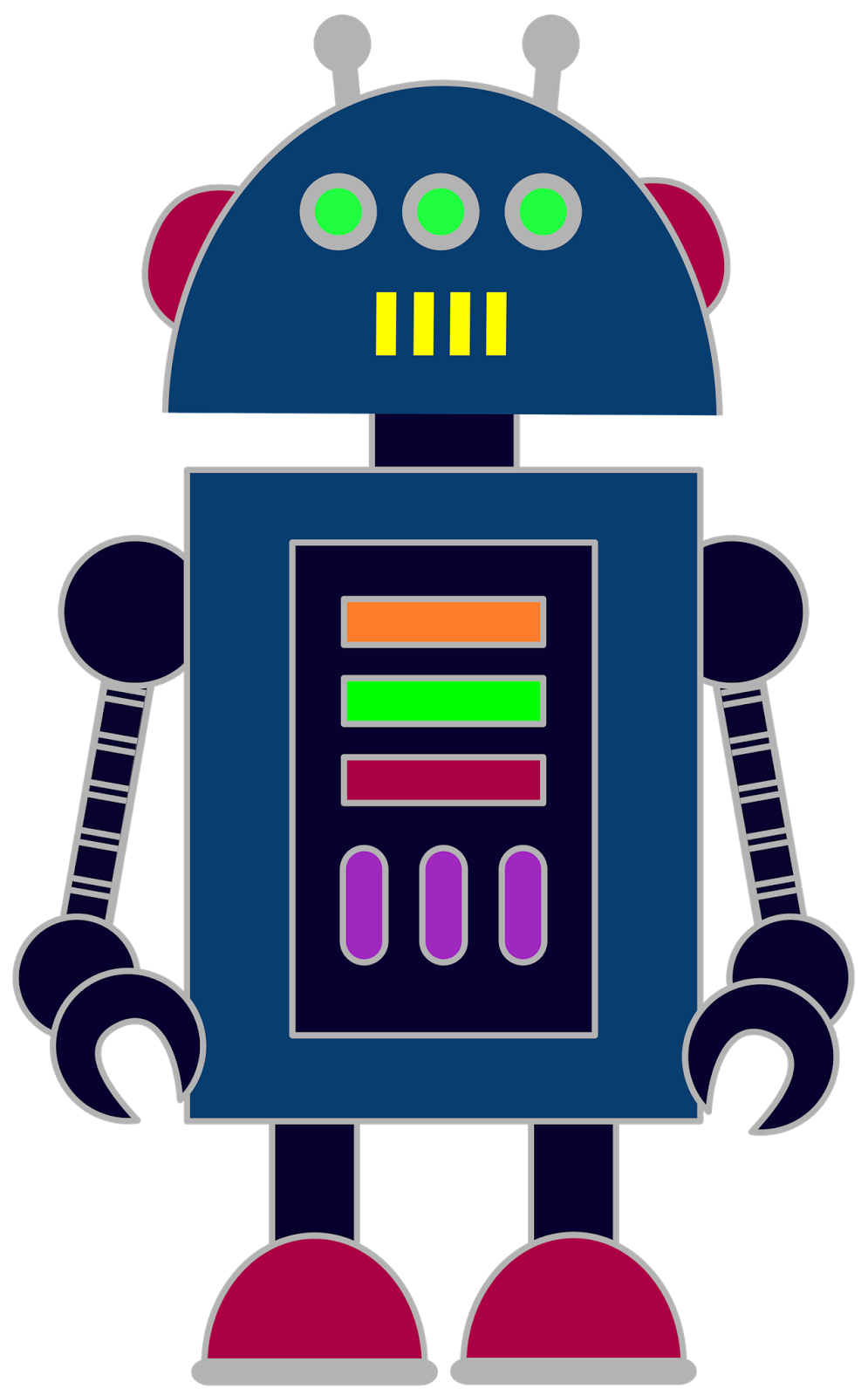hight resolution of free robot clip art for classrooms teachers and parents