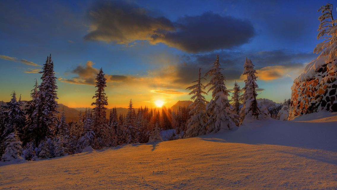 Winter Sunsets Free Download Winter Sunset Hd Wallpapers For