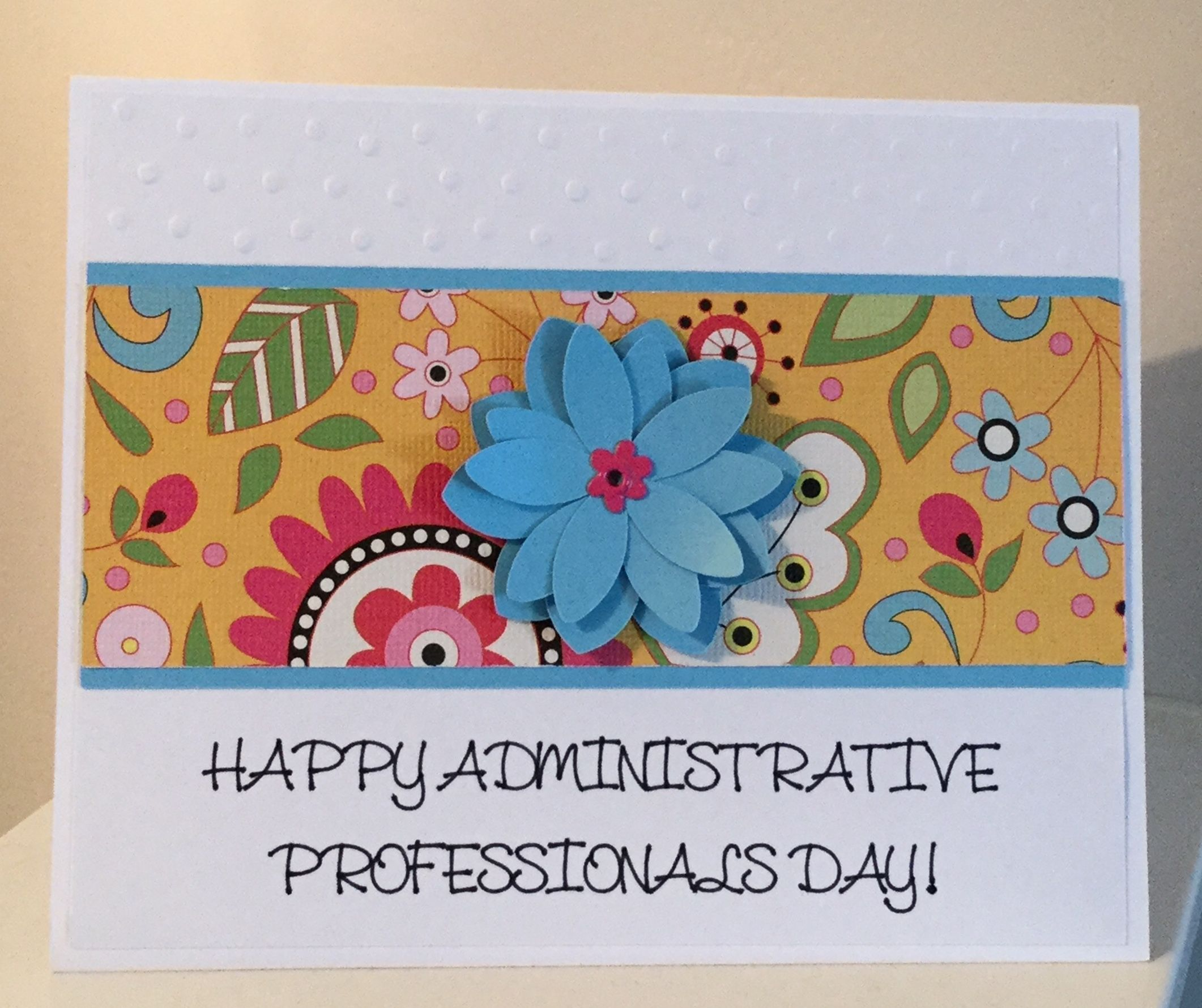 Administrative Professionals Day Card 5 25 X 6 5 Made With Cricut Insp Thank You Teacher Gifts Administrative Professional Administrative Professional Day