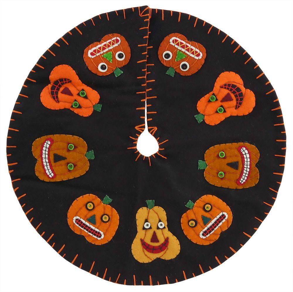 Pumpkins In A Circle Tree Skirt Vintage halloween