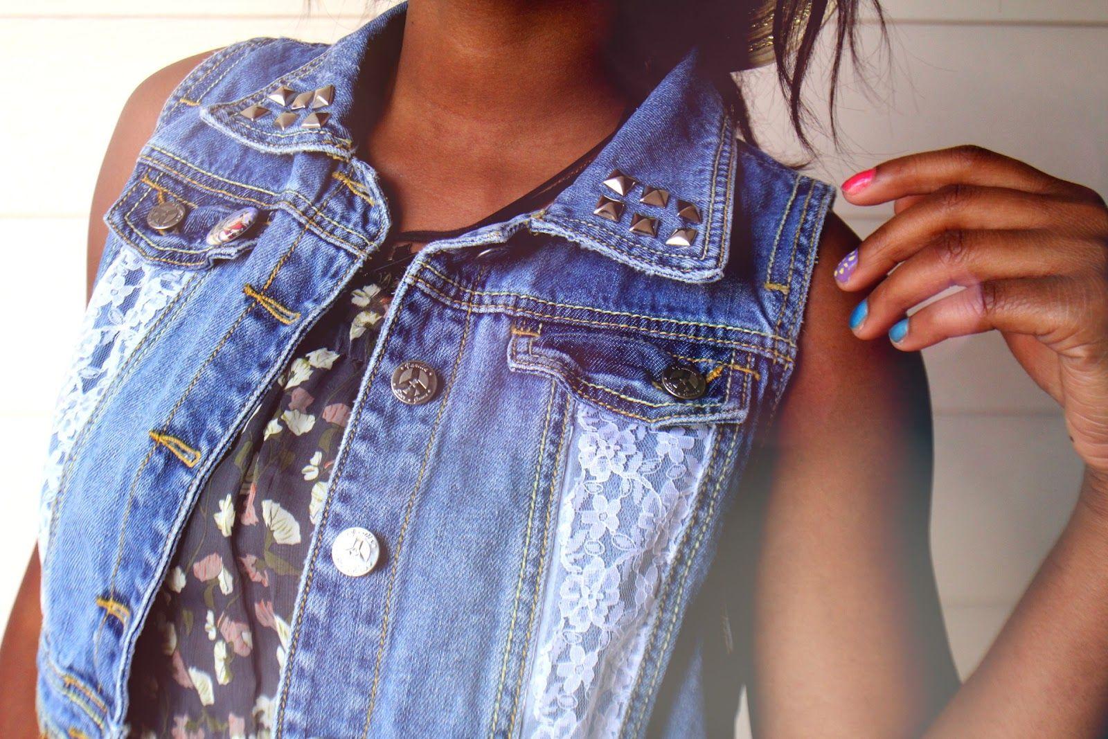 плечами как украсить жилетку джинсовую своими руками фото один