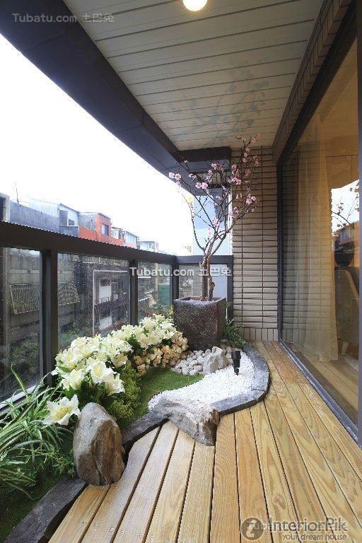 Balcony Design For Small House: Balcony Decoration Of Villa Landscape Renderings 2016