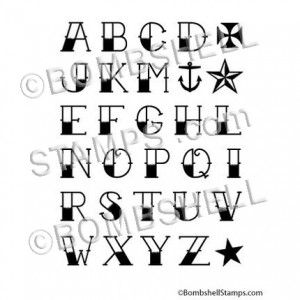Eli memorial tattoo font look book pinterest memorial tattoos tattoo font rubber stamps set with 26 letters of the alphabet stamps nautical star stamp iron cross stamp star stamp and anchor stamp thecheapjerseys Choice Image