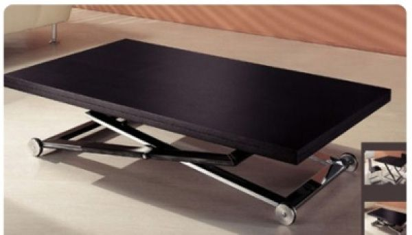 Table basse relevable et transformable loft meuble pinterest table basse relevable table Table basse transformable ikea