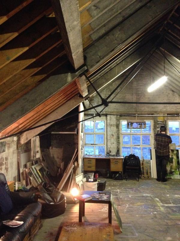 Amazing studio space inside @loftbelfast open for #BelfastOpenStudios Brilliant work and studios @BKieltArtist