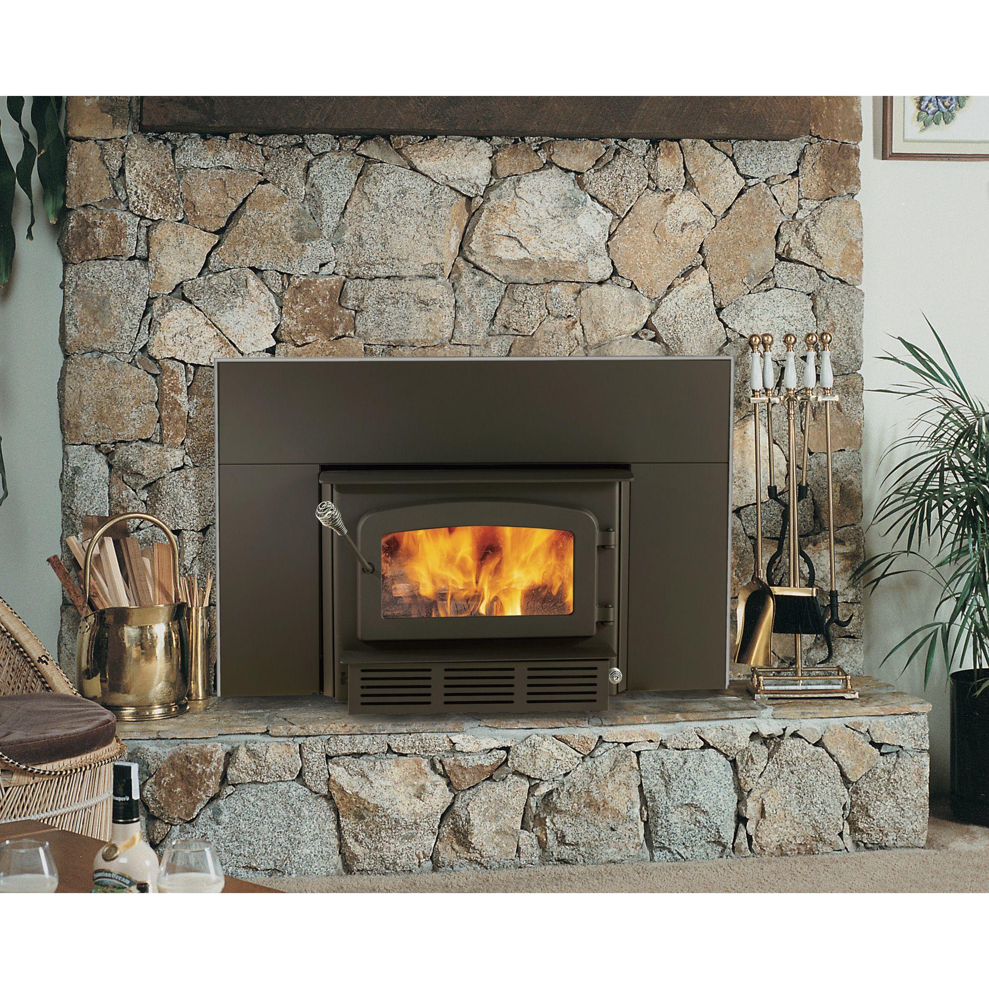 Drolet High Efficiency Escape Fireplace Wood Insert 60 000 Btu Epa Certified Model Db03122 Wood Stoves Fireplace House Styles Wood Stove Fireplace