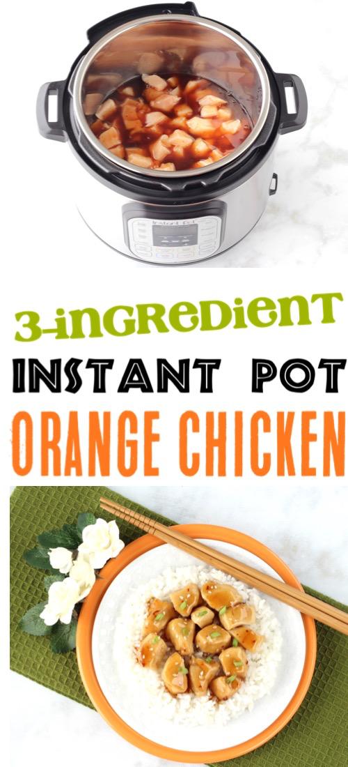 Instant Pot Orange Chicken Recipe! {3 Ingredients} - The Frugal Girls #instantpotchickenrecipes