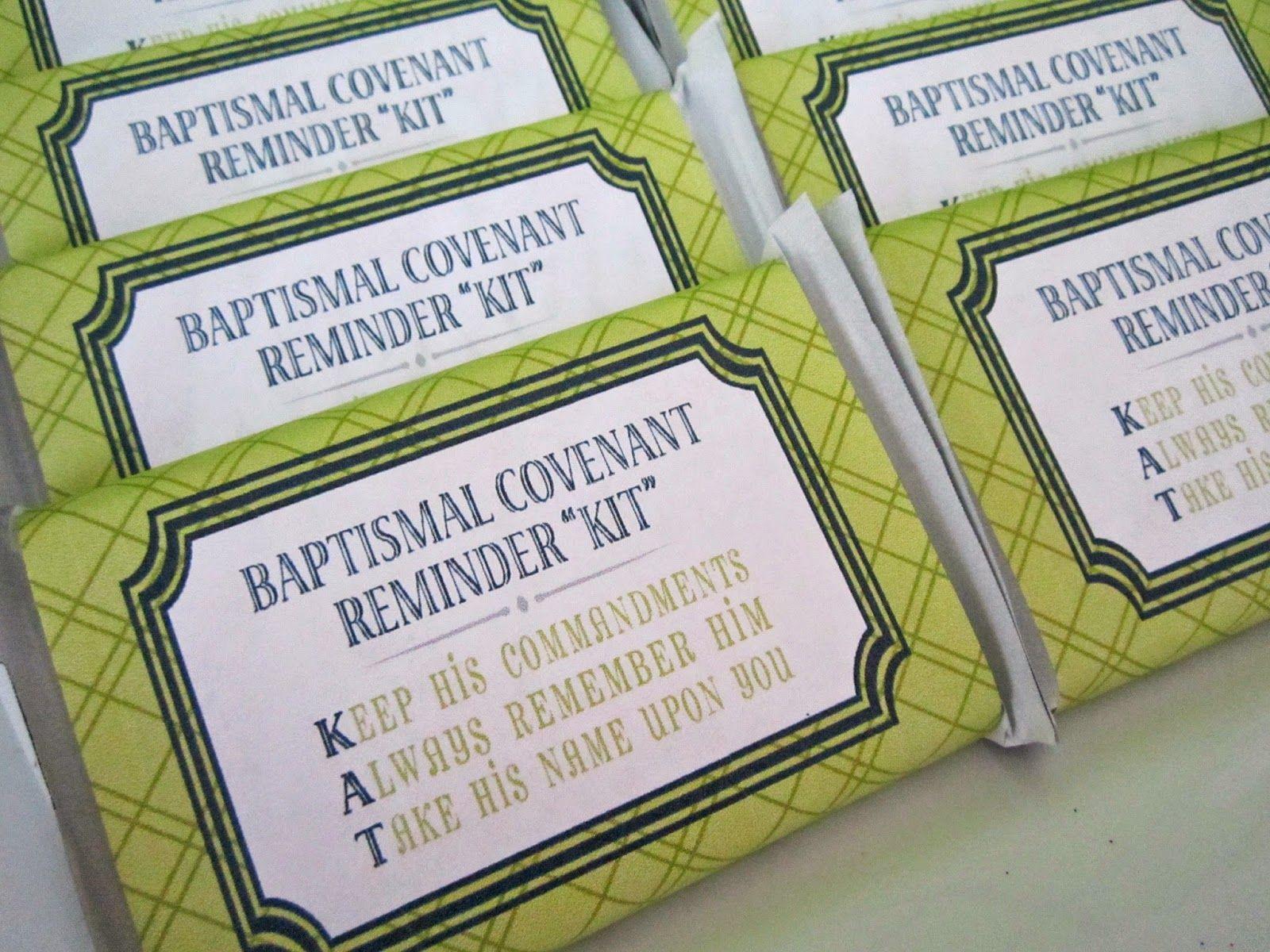 Baptismal Kit Kat Covenant Reminders designed by Pocket Full of ...