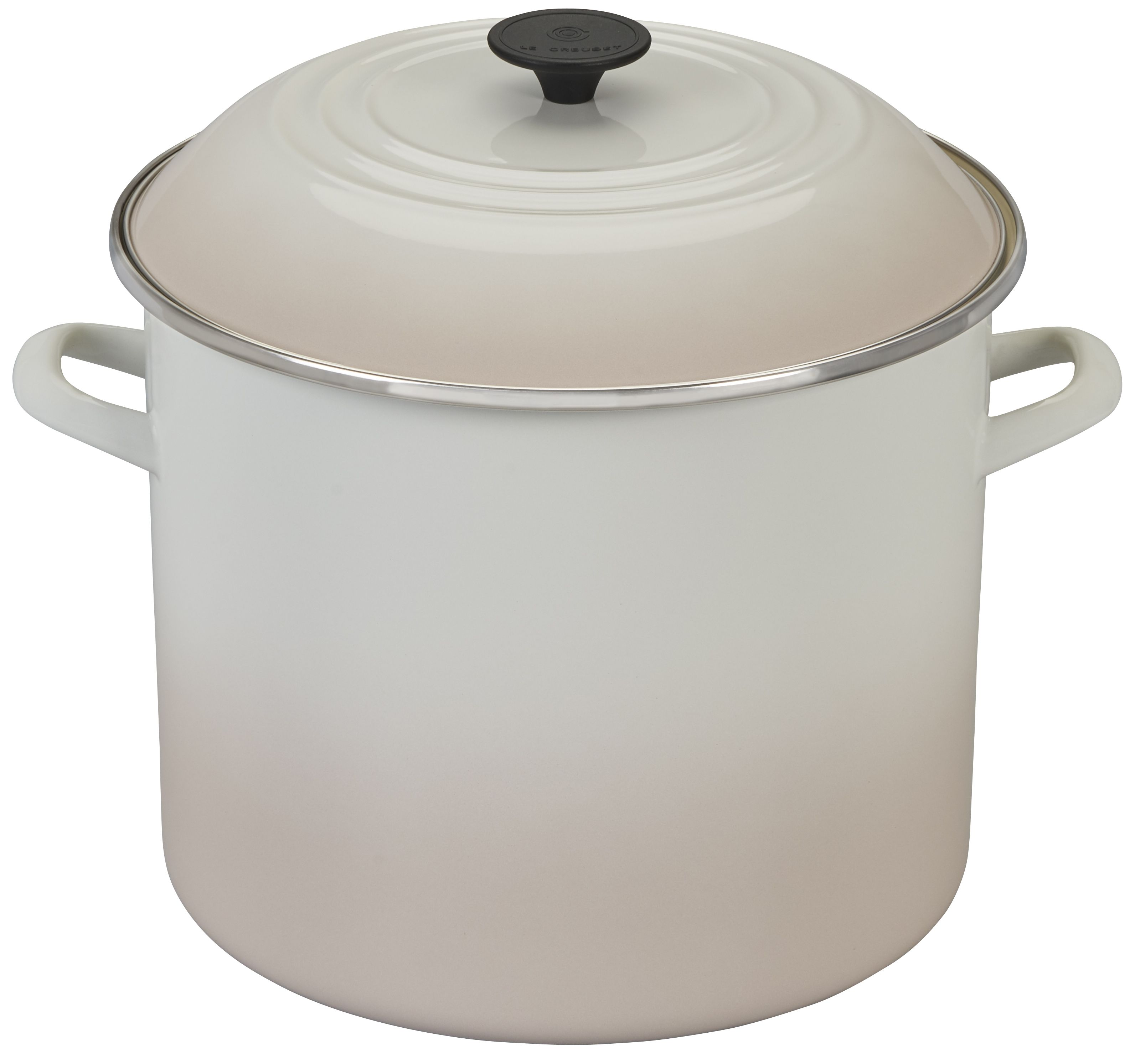 Le Creuset Stockpot Meringue Steel Rims Profile Design Meringue
