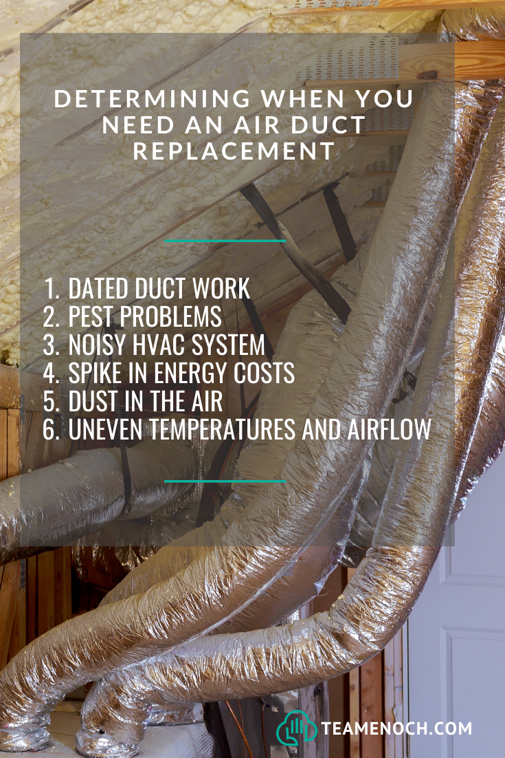 Determining When You Need An Air Duct Replacement Air Duct Hvac Duct Duct Work