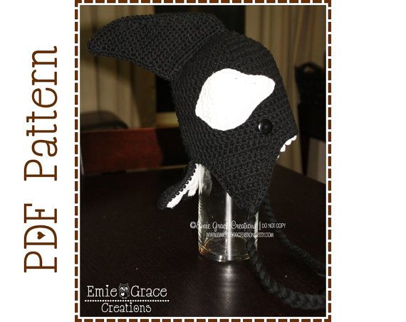 Orca Hat Crochet Pattern, 8 Sizes from Newborn to Adult, OLIVER ORCA ...