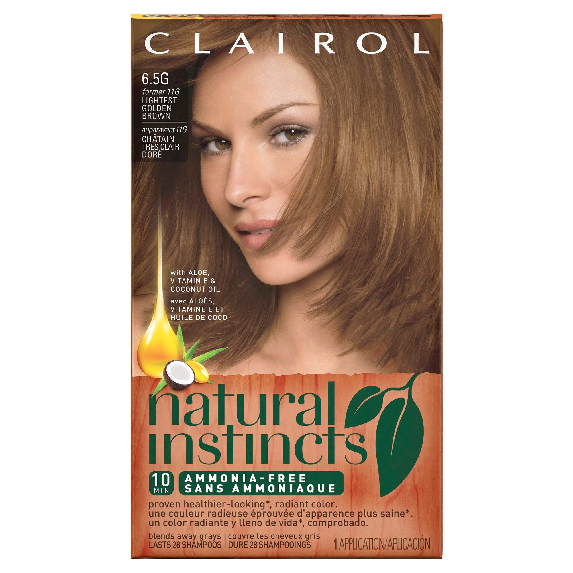 Clairol Natural Instincts Non Permanent Hair Color 65g11g Amber