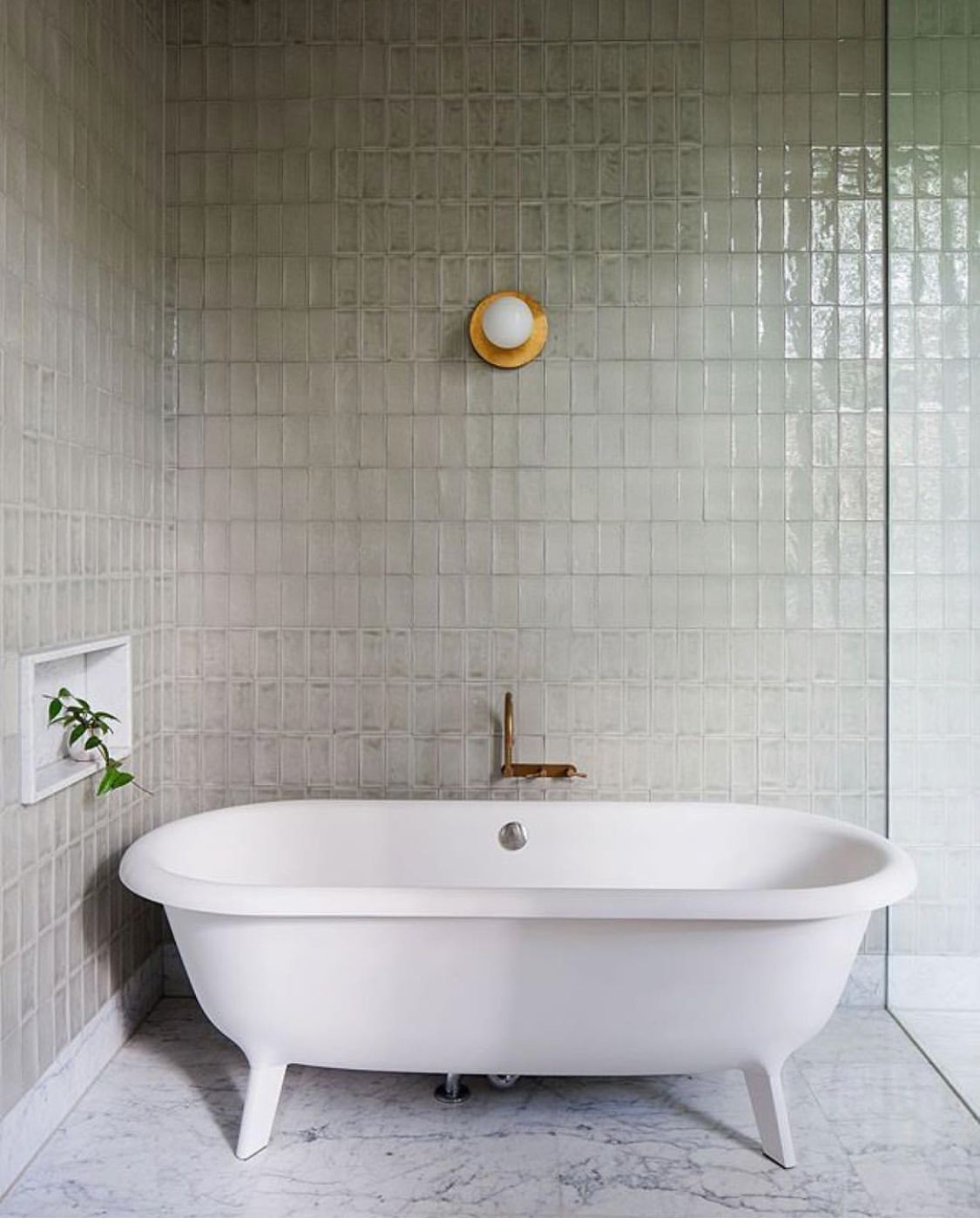 small square tile, quiet grout | Bathroom interior ...