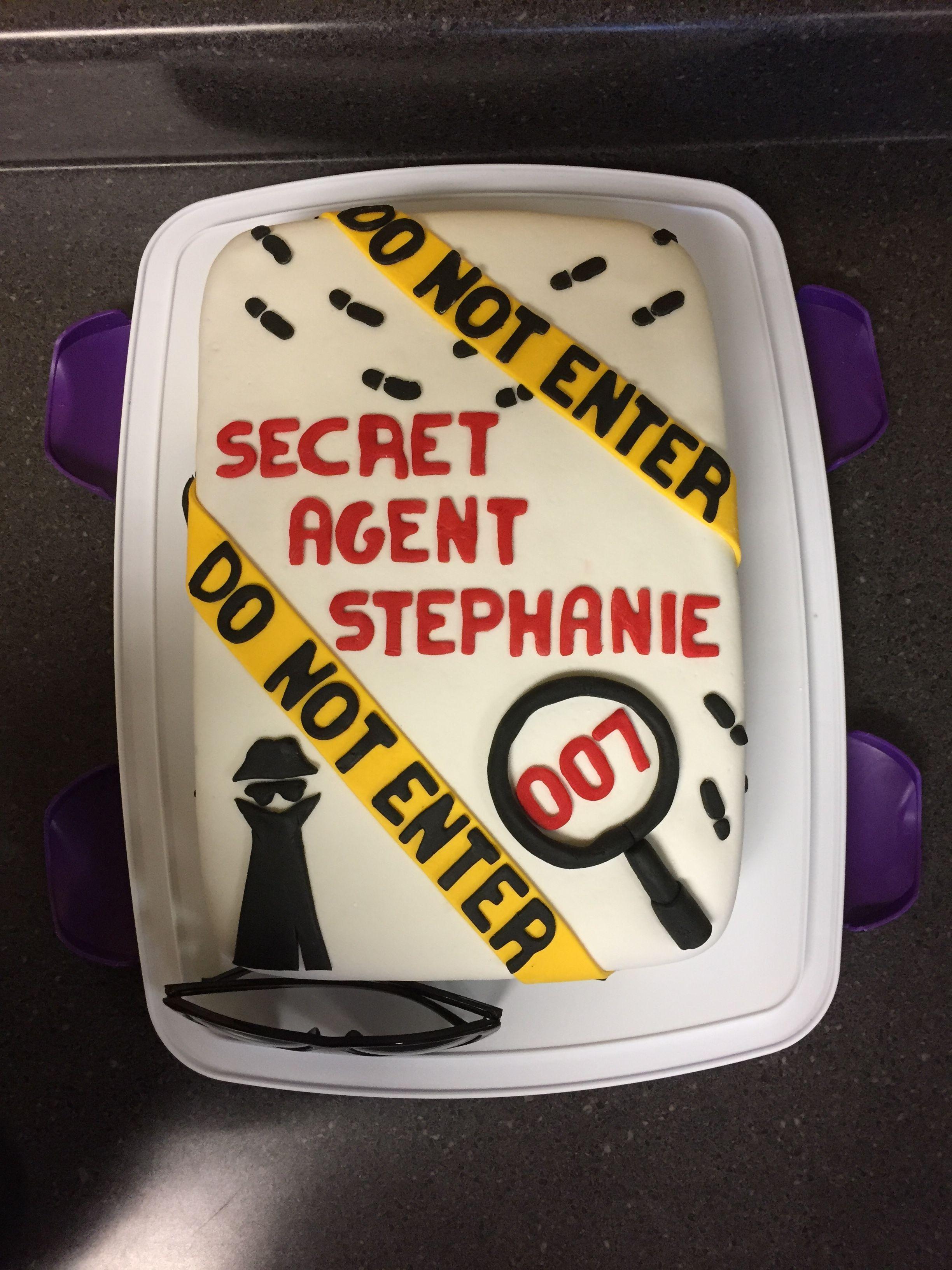 Stephanies Spy Birthday Cake Carsons First Birthday Pinterest