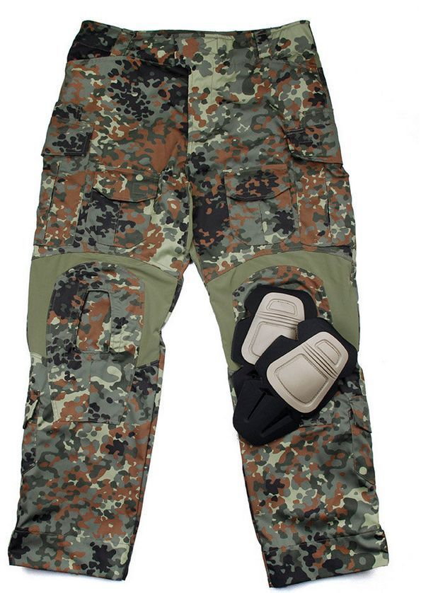 8bf6608e186cd TMC Flecktarn Gen3 Tactical Military Combat 3D Pants with Pads airsoft  paintball #TMC
