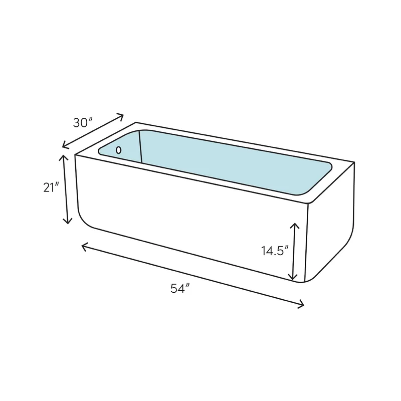 Apron Acrylic 54 X 30 Alcove Soaking Bathtub In 2020 Soaking Bathtubs Deep Soaking Bathtub Bathtub