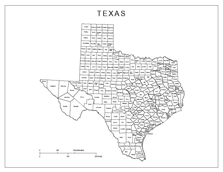 Map Of Texas County.Labeled Map Of Texas State Tx County Map Bullet Journal