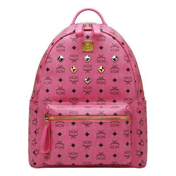 ad042310ba47e4 MCM Sale]MCM medium visetos stark backpack Pink MMK3SVE01PK ($212) ❤ liked  on Polyvore featuring bags, backpacks, backpack, mcm, rucksack bag, ...