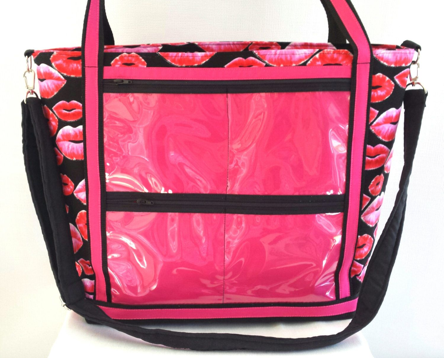 Lipsense custom consultant display tote bag. clear window