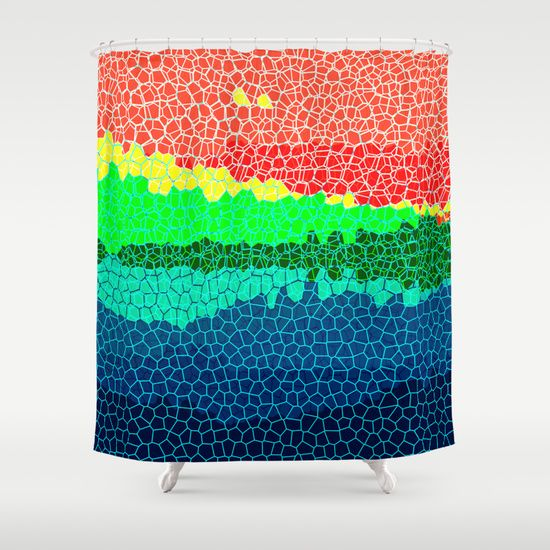 Abstract Sunset On Tropical Island Shower Curtain