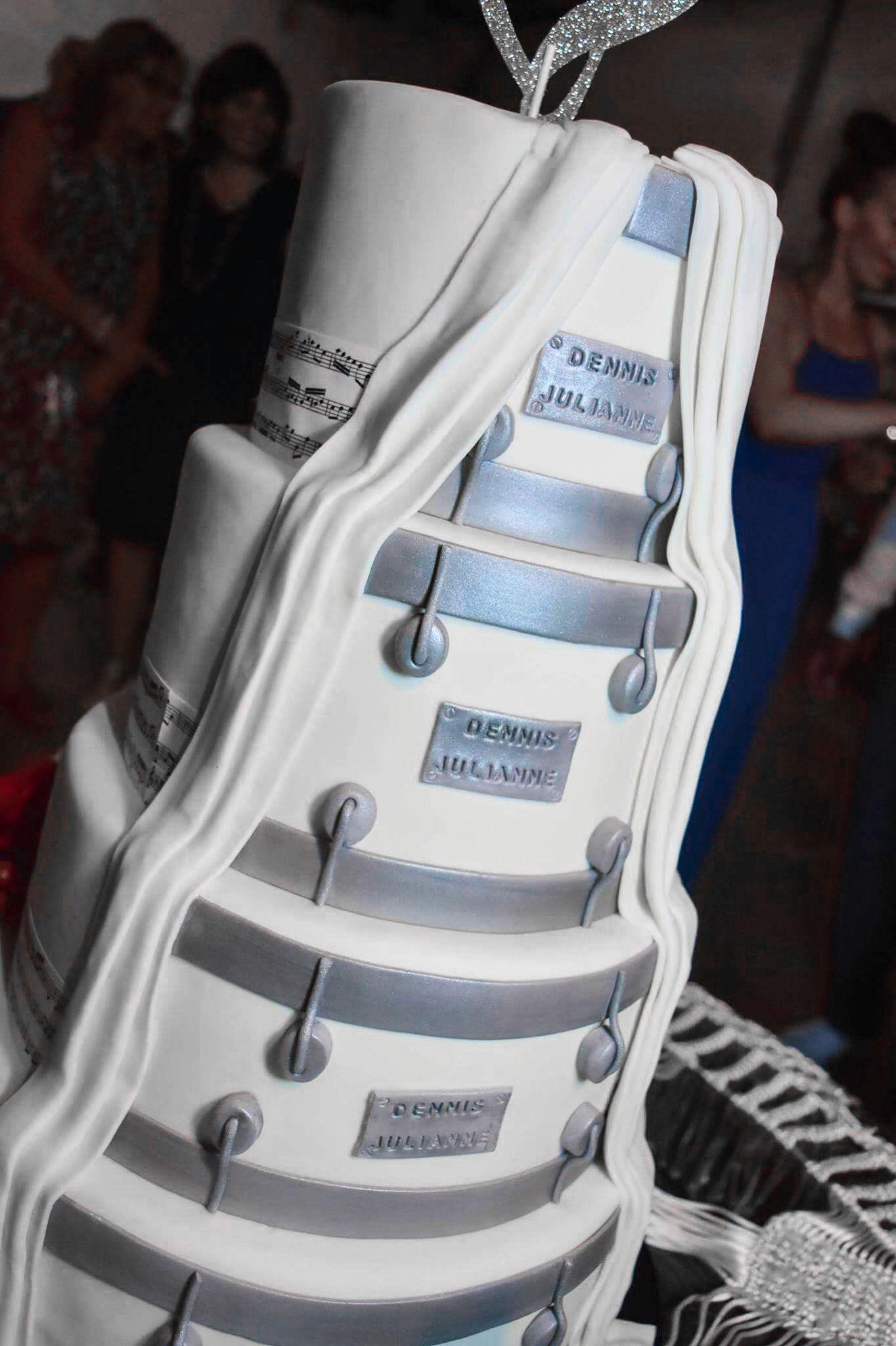 Hidden drummer cake. Music-themed wedding cake   My cakes ...