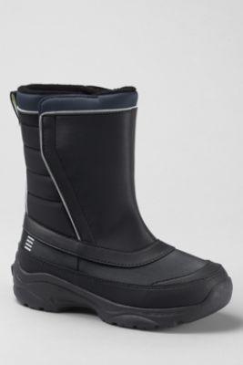 Boys Snow Flurry Boots From Lands End Orange Big Boy