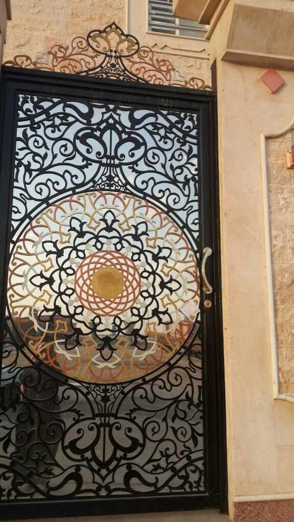Saudiarabia Laser Metal Home Door Iron Door Design Painted Front Doors Iron Doors