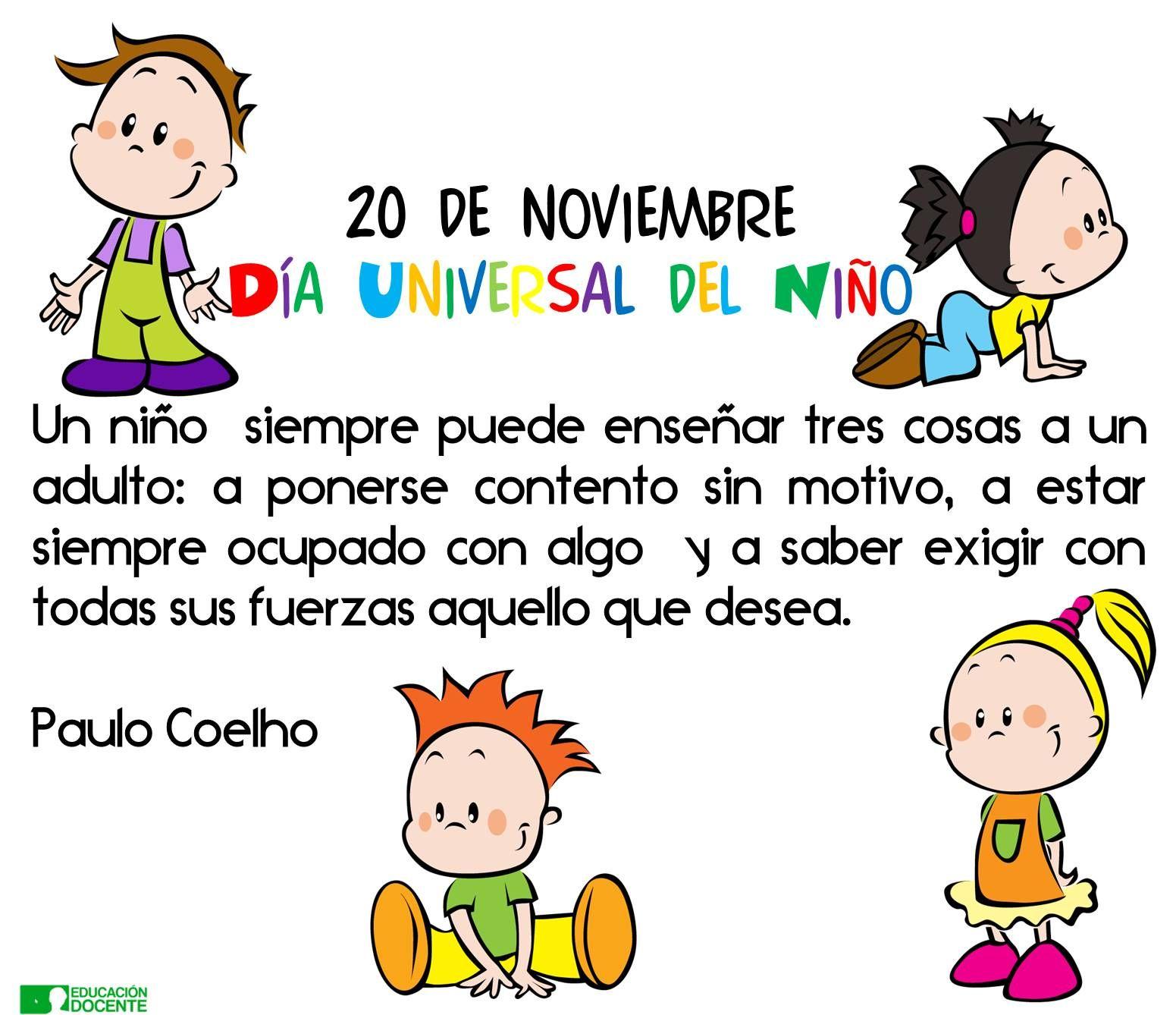 20 de noviembre Día Universal del Niño y la Niña
