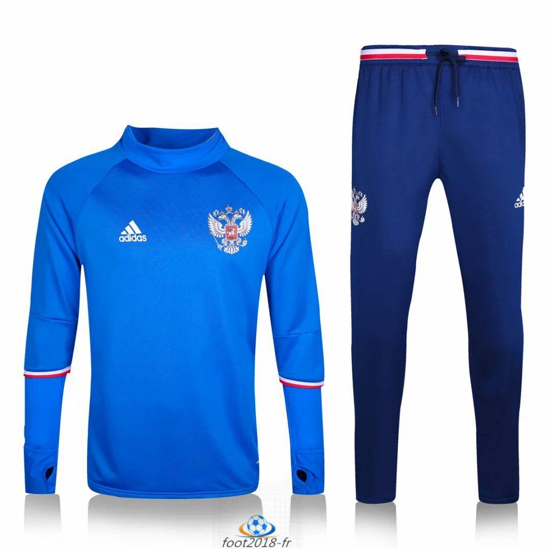 Official Le Nouveau Survetement de foot Russie Bleu 2016 2017
