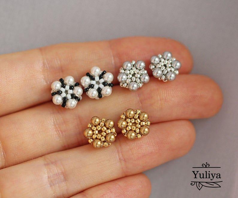 Beaded Pierced Earrings